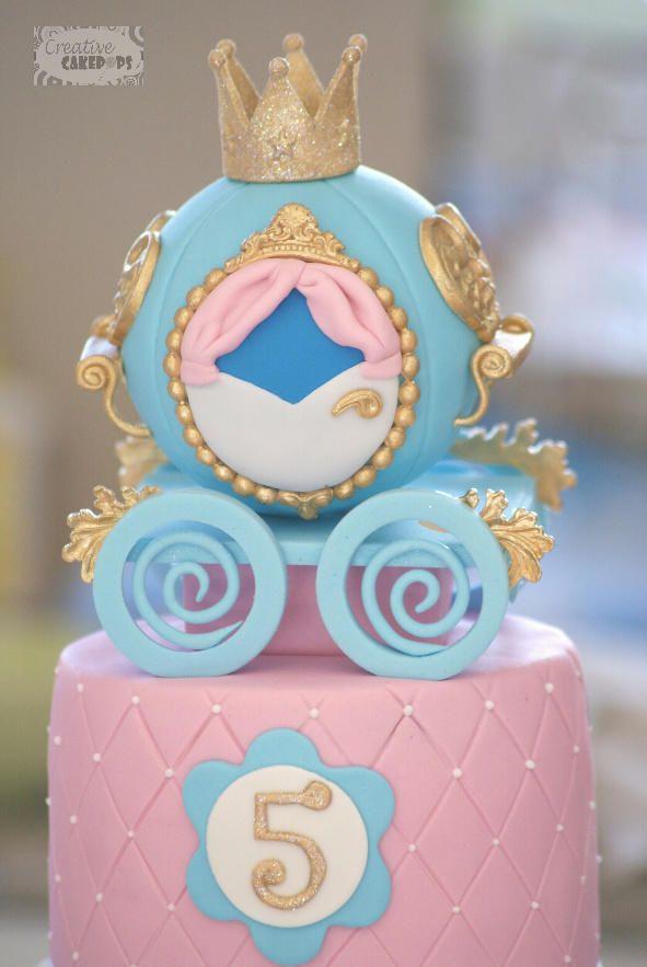 Cinderella Princess Carriage cake - Cake by Creative Cakepops