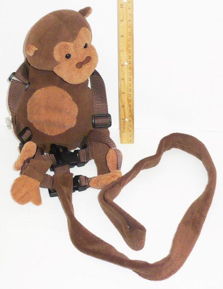 Toddler Goldbug Stuffed Animal Monkey Backpack And Safety