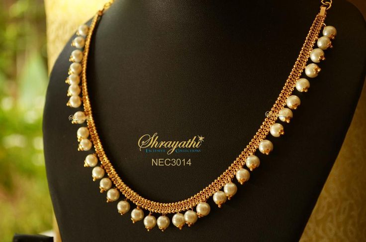 Off white beaded Necklace   Golden, Bead, White Necklaces & Jewellery Sets   Indiebazaar