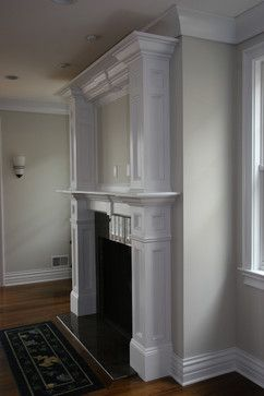 Custom Fireplace mantles, build-ins – traditional – living room – new york – Trim Team NJ