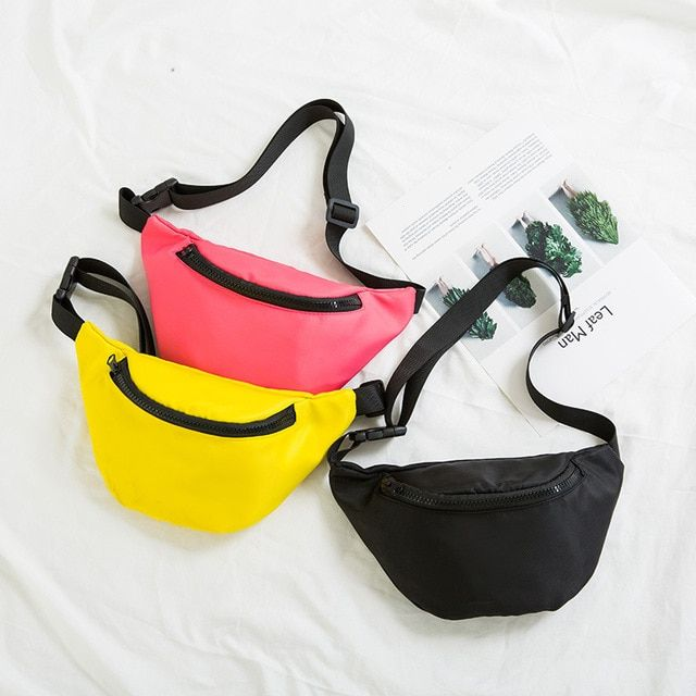 37117845521 Fashion Kid Baby Girls Boys Fanny Pack Waist Bag For Children Solid ...