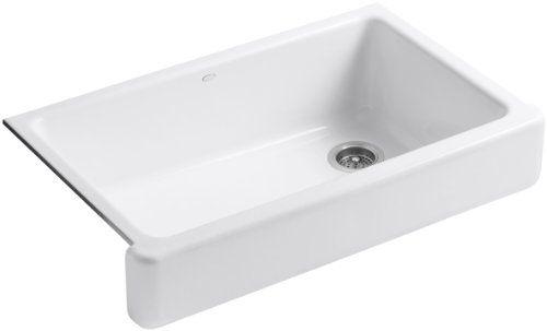 KOHLER K-6488-0 Whitehaven Self-Trimming Apron Front Single Basin Sink with Short Apron, White Kohler,http://www.amazon.com/dp/B005AEP2PE/ref=cm_sw_r_pi_dp_Lvivtb045FFV217D