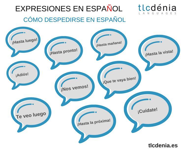 Cómo despedirse en español. / How to say goodbye in Spanish. #Spanish #español #ELE