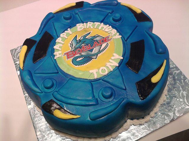 Beyblade Cake by jeaneve25, via Flickr
