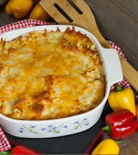 Turkey Enchilada Casserole  great recipe for left over turkey and the kids will love the cheese!