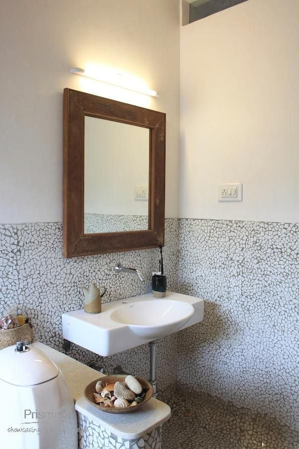 bathroom wall cladding design grey scale - jain residance - 021