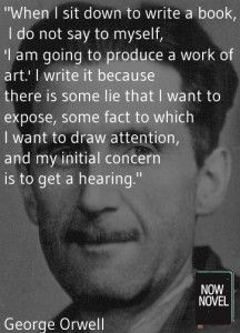 George Orwell describes how he begins writing a novel