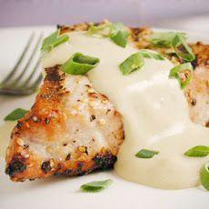 Tuna Steak with Lemon Cream Sauce