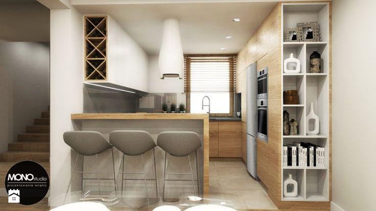 przestrzeń & faktura - Średnia kuchnia - zdjęcie od MONOstudio