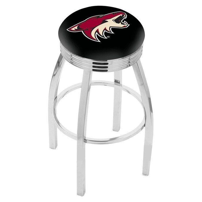 Arizona Coyotes NHL Chrome Ribbed Ring Bar Stool