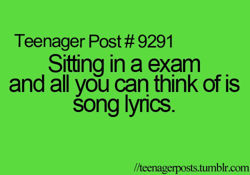 Just saying, it should be 'an exam' but still so accurate.