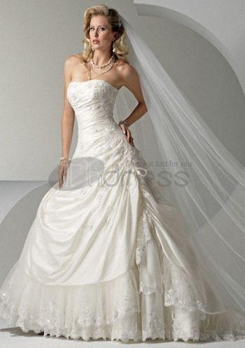Lujosos vestidos de novia strapless 2012