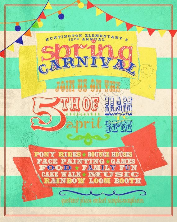 Graphic Design Flyer Sample:  Spring Carnival.