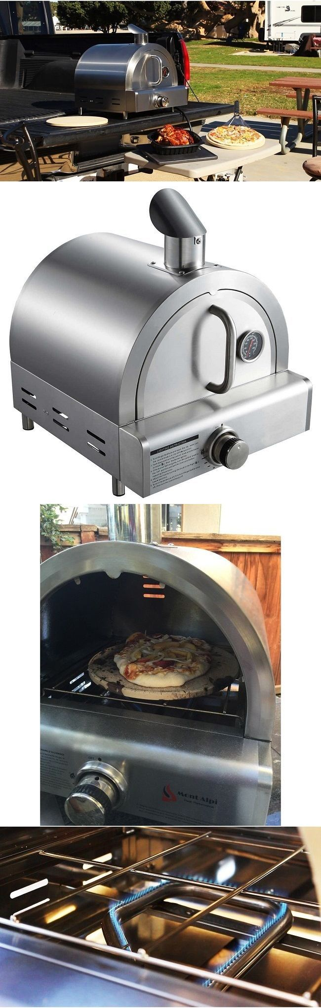 Kitchen small appliances edmonton - Camping Ovens 181387 Frozen Pizza Oven Small Mini Portable Tabletop Stainless Steel Metal For Outdoor