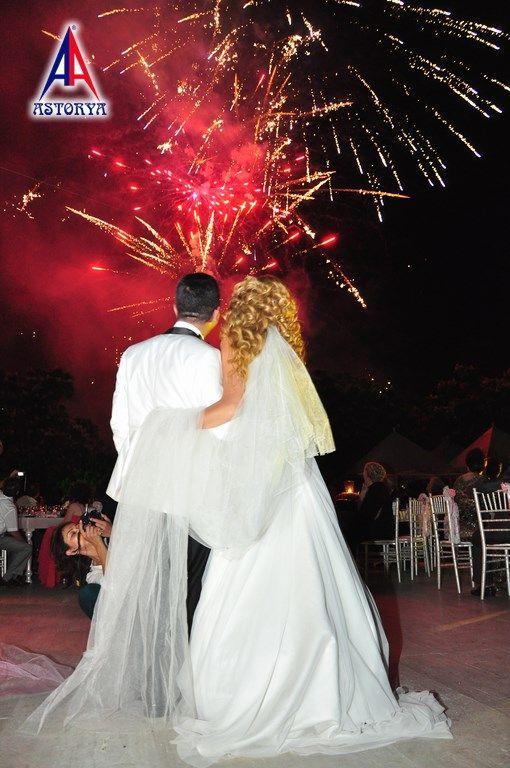Aslanlar club düğün töreni havai fişek gösterisi 3