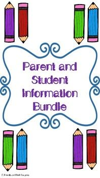 Parent and Student Information Packet