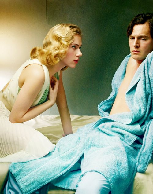 Scarlett Johansson and Benjamin Walker (Cat on a Hot Tin Roof) photographed by Annie Leibovitz for Vogue (January 2013)