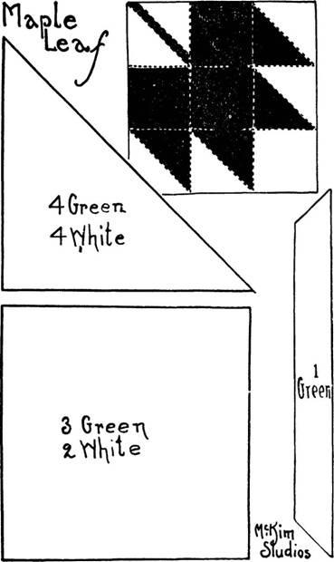 Quilt pattern: Maple Leaf