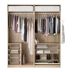 Pax armoire penderie ikea id es nouvel appart pinterest white doors - Penderie dressing ikea ...