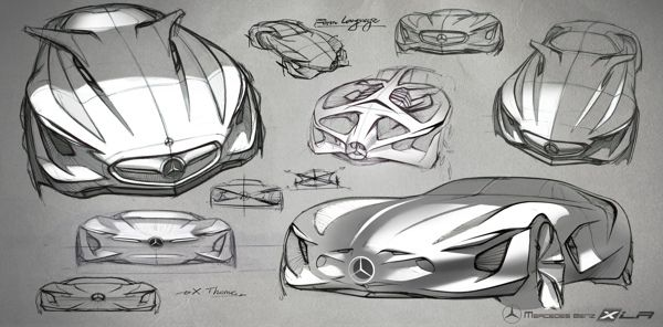 Mercedes Benz XLR Concept by Dongman Joo, via Behance.