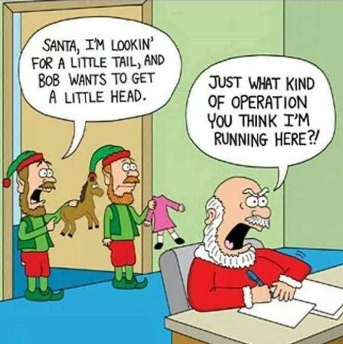 Cute Santa Humor Look Closely At The Picture Funny Christmas Pics Pinterest Christmas Humor Funny And Jokes
