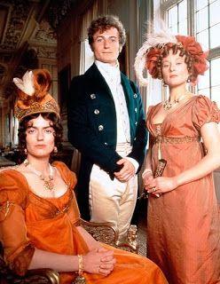 Anna Chancellor, Crispin Bonham-Carter e Lucy Robinson i Bingleys (Pride & Prejudice  BBC 1995)