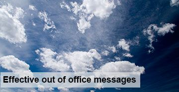 How to write the perfect out-of-office message