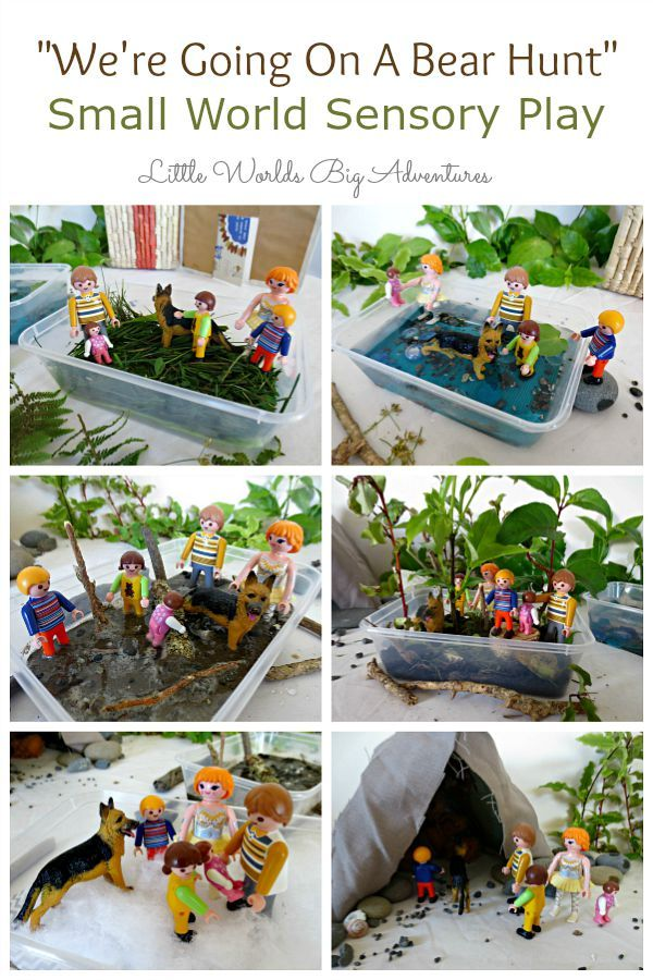 """""""We're going on a Bear Hunt"""" Small World Sensory Play 