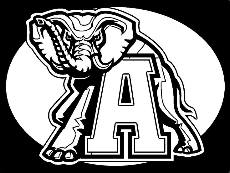 Alabama Crimson Tide Football Logo Coloring Page