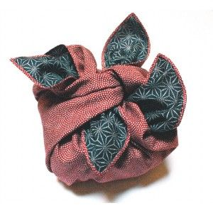 Furoshiki traditionnel Wafu rose