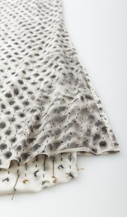 Dye + Embroidery for pattern & texture; textiles for fashion; fabric manipulation // Alabama Chanin