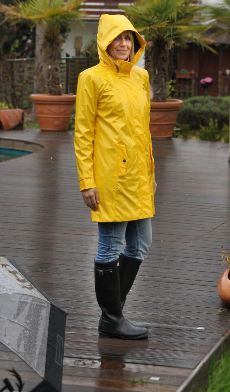 RAINFUCKERS | yellow raincoat | Cheap rain jackets, Hooded ...