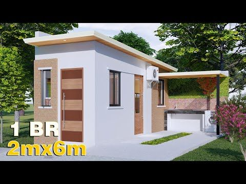 Small House Design 2 X 6m 12 Sqm 1 Bedroom For 200k Youtube In 2021 Small House Design Small House Design Philippines House Design