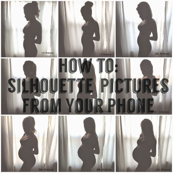 How to create silhouette pictures from your phone. Pregnancy Tracker.