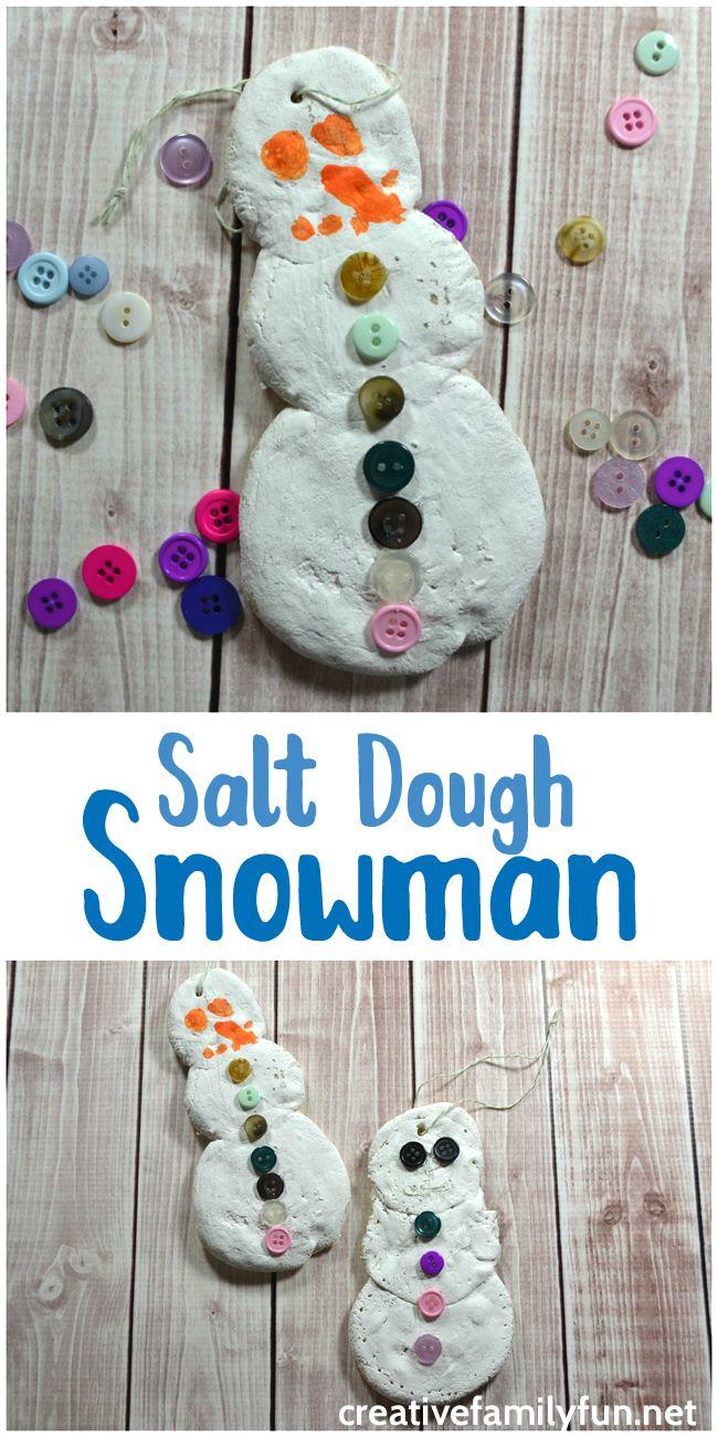 Salt Dough Snowman Ornament Winter Crafts For Kids Crafts For Boys Arts And Crafts For Kids