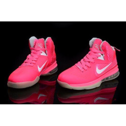 pink lebron 9 james custom sneakers