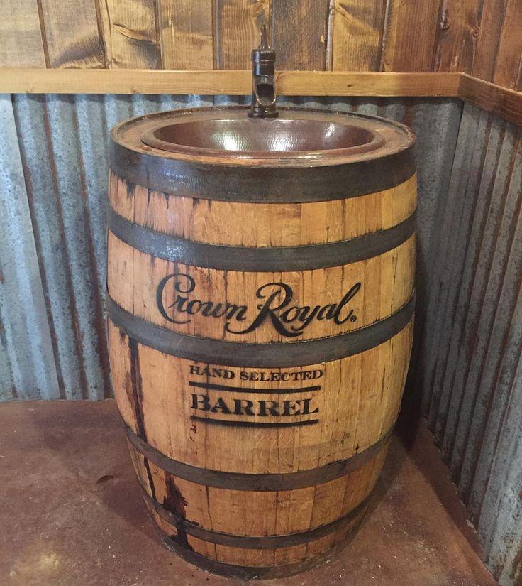 Best 25 homemade vanity ideas on pinterest homemade for Whiskey barrel bathtub