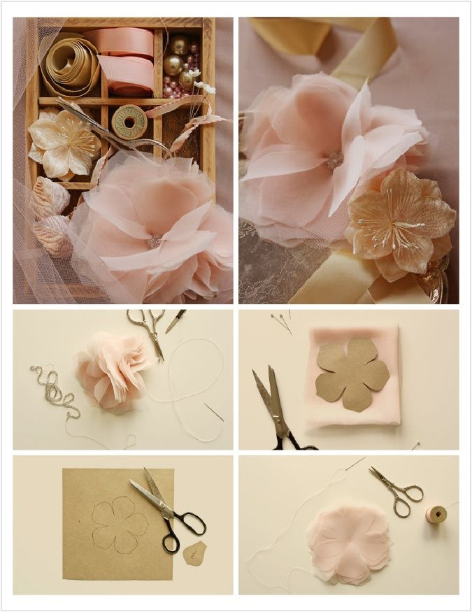 CHIFFON AND TULLE FLOWER TUTORIAL | Chiffon and Tulle Flowers DIY from Project Wedding