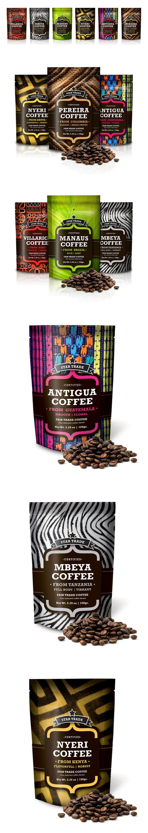 packaging de café diseño