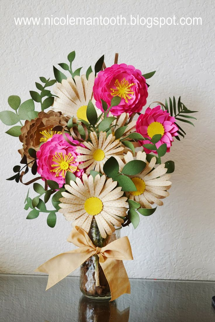 RANDOM RAMBLINGS: PAPER FLOWER ARRANGEMENT