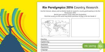 Australian Rio Paralympics 2016 Country Research Activity Sheet