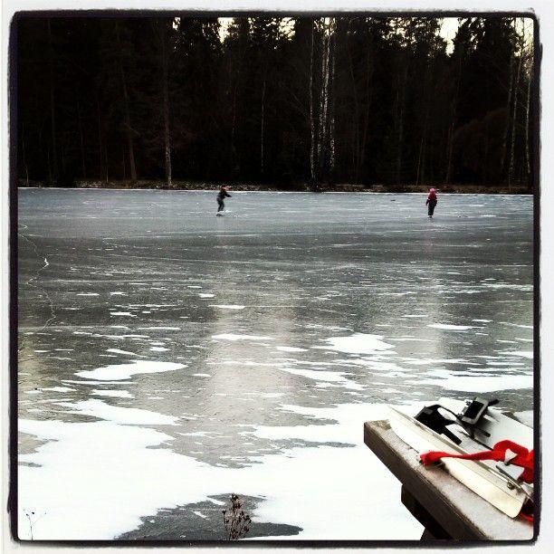 Skating at Forest Pond by Aulanko,  January 2016 #Aulanko #Hämeenlinna