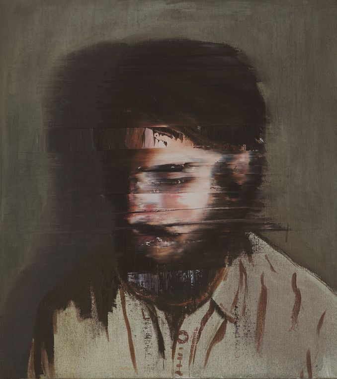 Andy Denzler creates paintings that look like distorted old memories