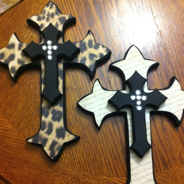 Wooden crosses made by me :)                                                                                                                                                                                 More
