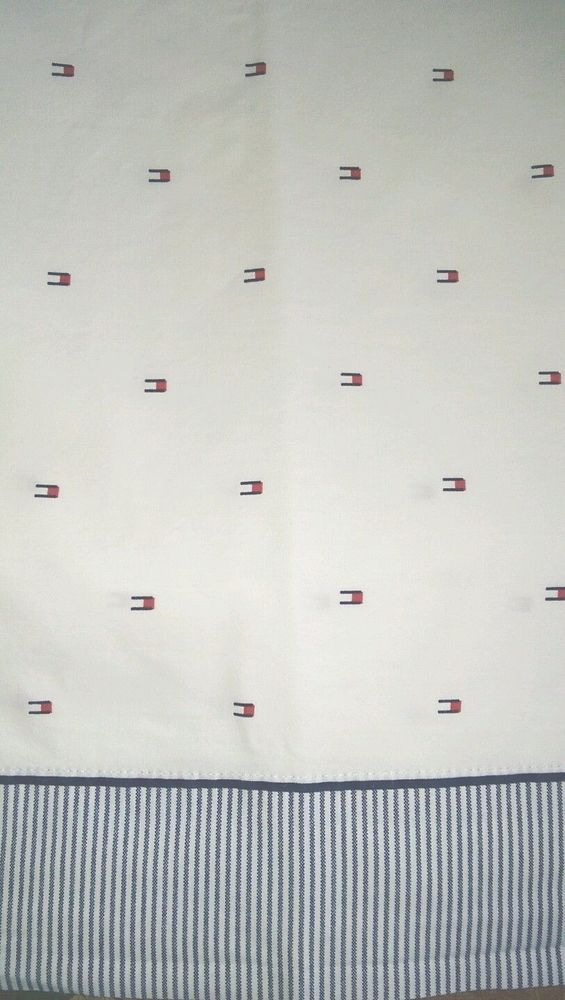 Tommy Hilfiger Sheet  TH  Twin Flat W/R/B  Cotton #TommyHilfiger #Contemporary