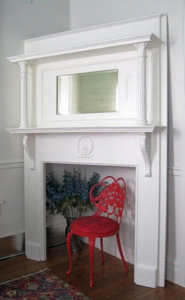 shabby white chic victorian fireplace mantel headboard - How To Build A Fireplace Surround
