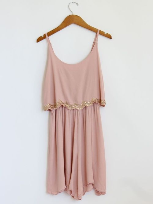 Blush and gold sparkle dress.