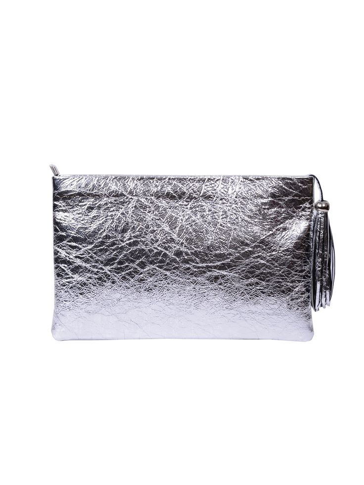 Friday necessities: skinny jeans, red lipstick & this gorgeous metallic bag. Tinfoil Clutch by Laura Olaru available on www.bandofcreators.com.