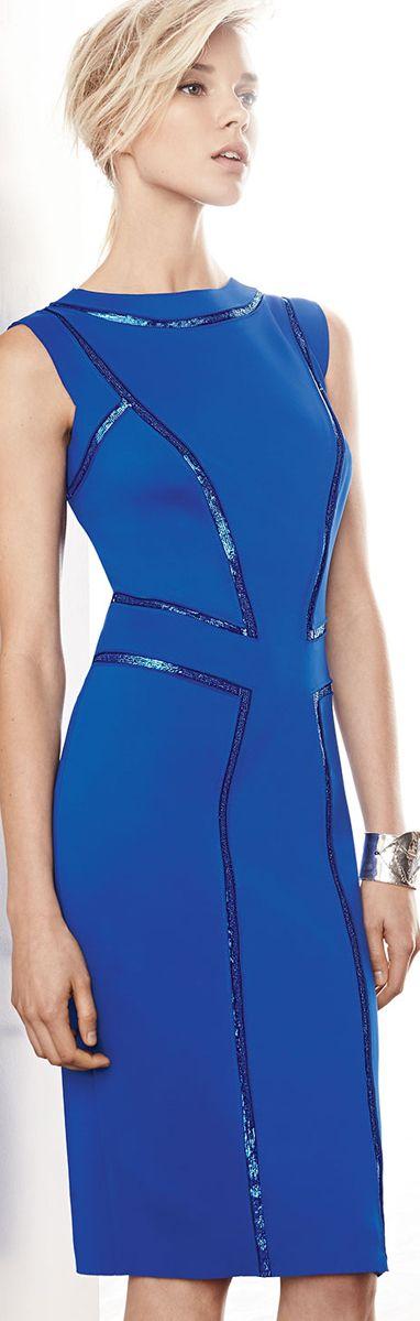The Millionairess of Pennsylvania......Tadashi Shoji Cobalt Blue #dresses
