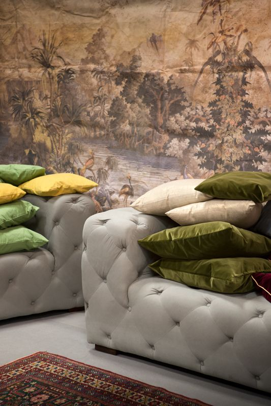 Velvet, cotton and ornamental pillows. Wide variety of colors and textures.